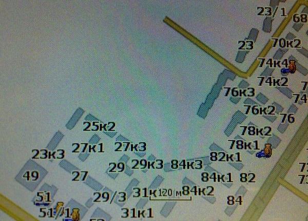 Карта Навител Тюмень новые дома на перекрестке Пермякова Федюнинского