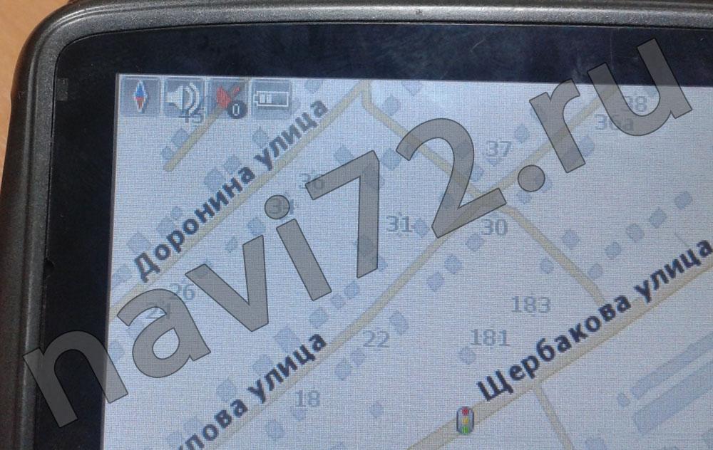 Тюмень (улицы Доронина, Хохлова и Щербакова) на карте Навител 2011Q4 в автомобильном навигаторе Prology iMap-406AB