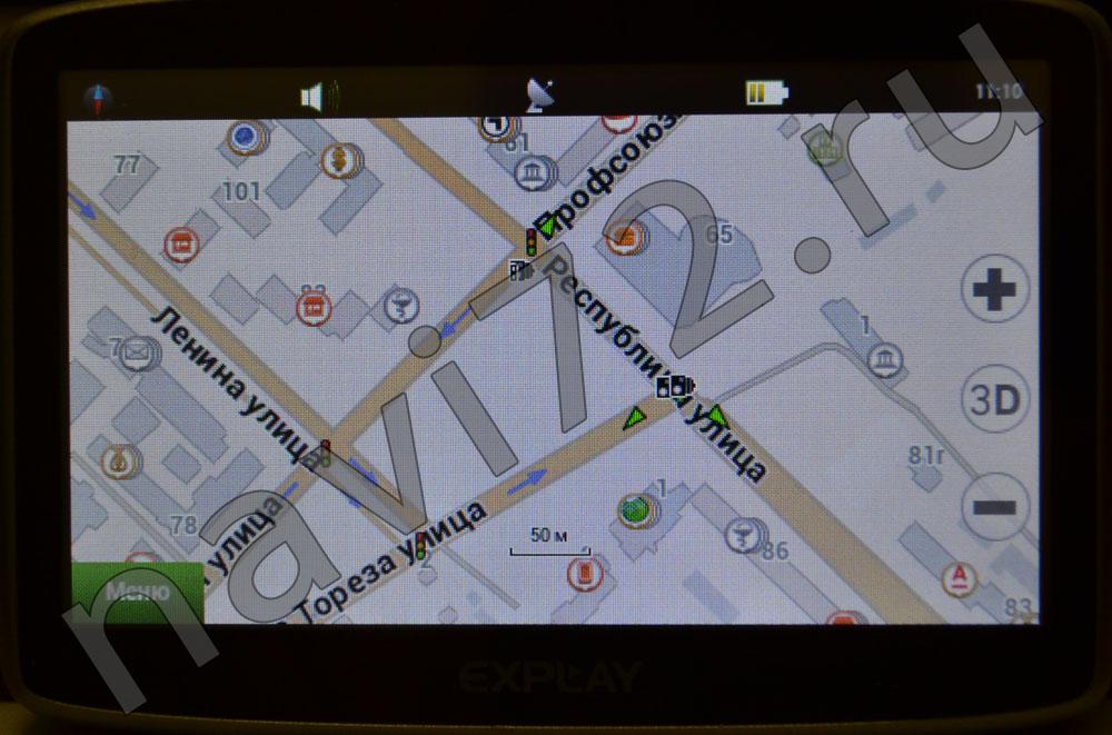 Официальная карта Навител 2014 Q1 Тюмень Профсоюзная Ленина Республики Мориса Тореза